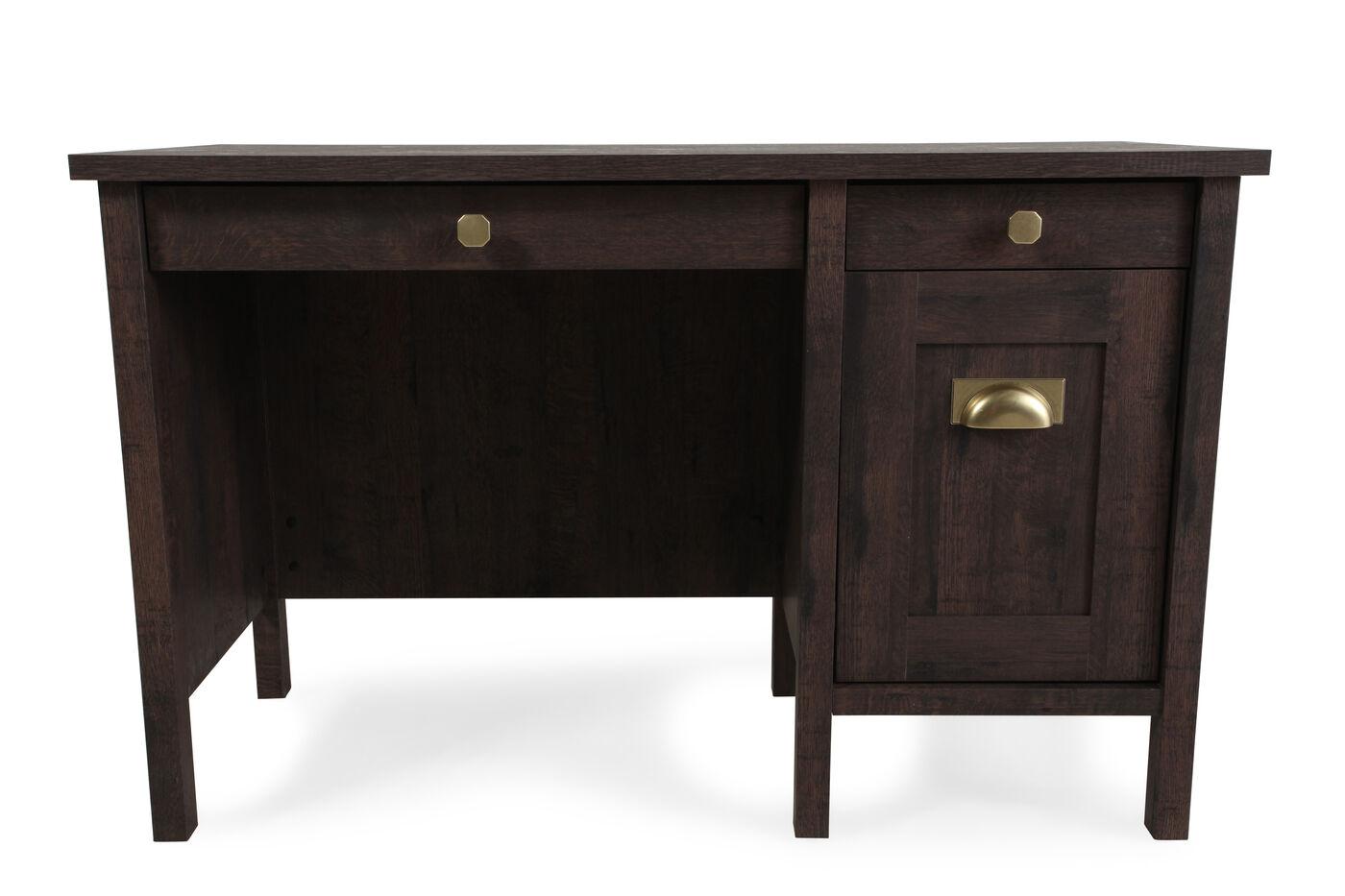Sauder Coffee Oak Desk Mathis Brothers Furniture