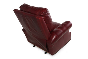 USA Leather Marsala Red Recliner