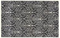 LBJ Hand Tufted Wool/Viscose Charcoal 5' X 8' Rug