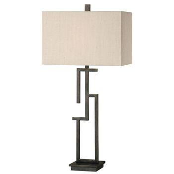 Uttermost Demer Forged Metal Lamp