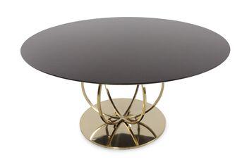 Bernhardt Jet Set Round Dining Table