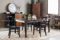 MB Home Rubbed Black Five-Piece Dining Set