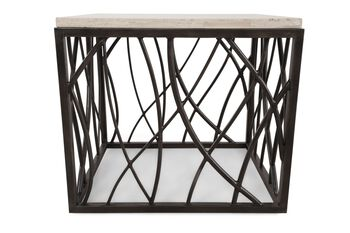 Hooker Stone/Iron End Table