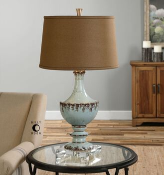 Uttermost Molara Aged Blue Table Lamp
