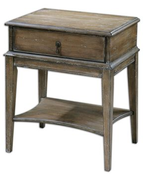 Uttermost Hanford Weathered Accent Table