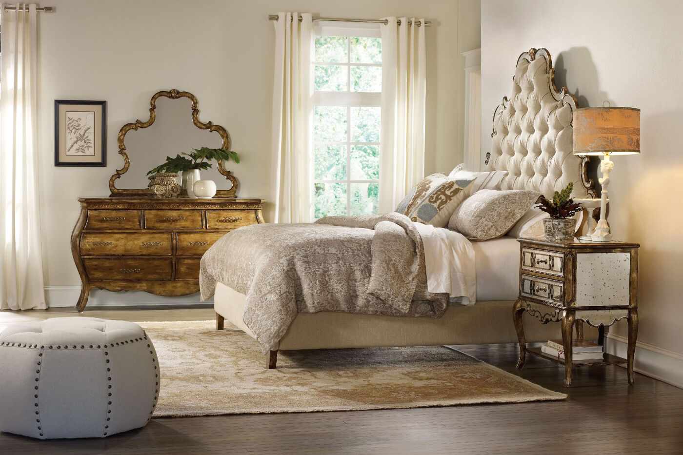 Hooker Sanctuary Bling Tufted Bed Mathis Brothers Furniture
