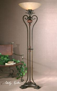 Uttermost Andra Torchiere Floor Lamp
