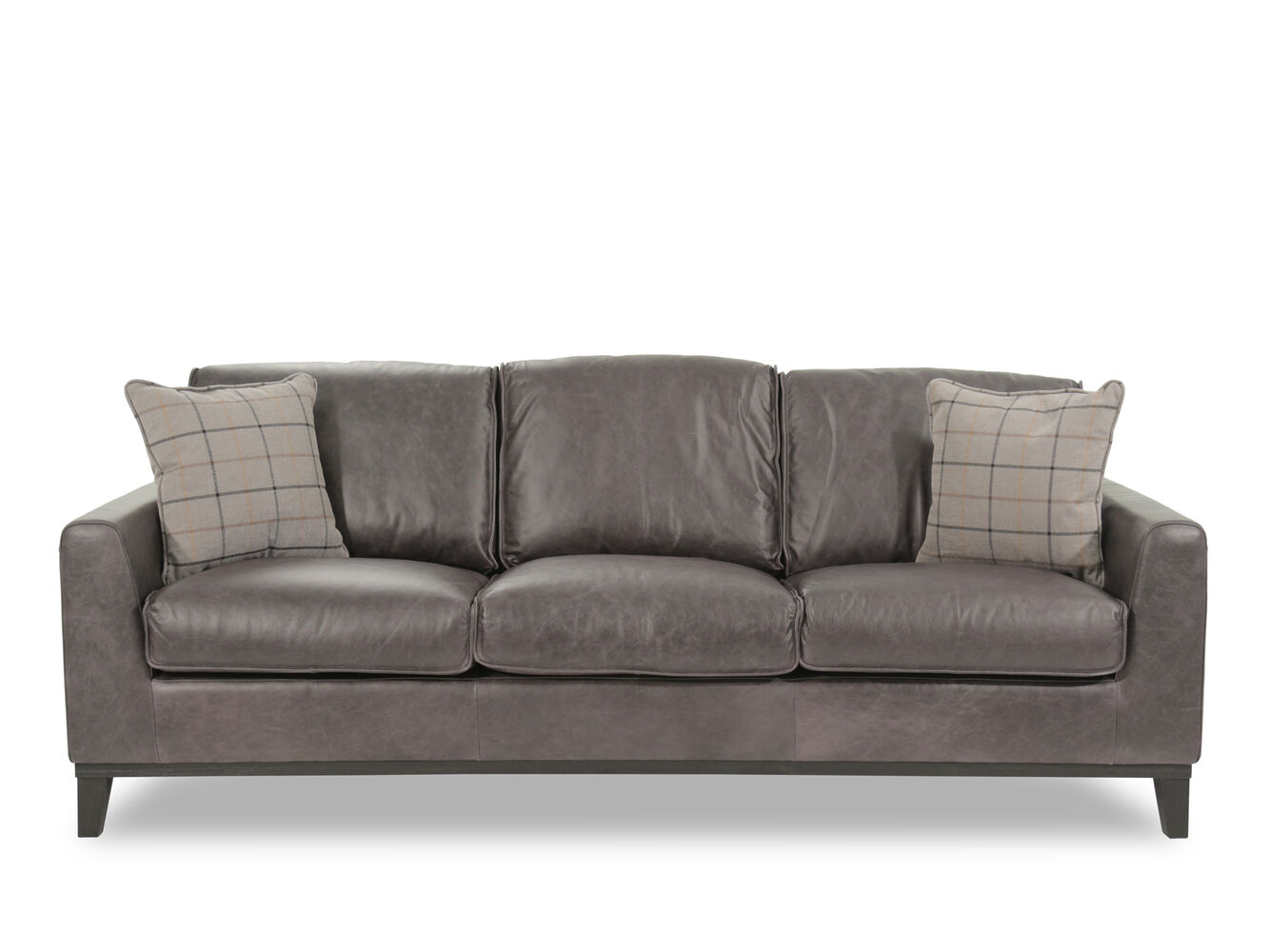 Boulevard vintage cowboy leather gray sofa mathis Cowboy sofa