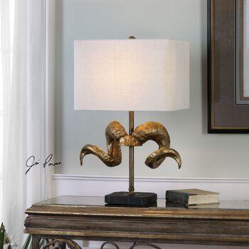 Uttermost Golden Horns Table Lamp