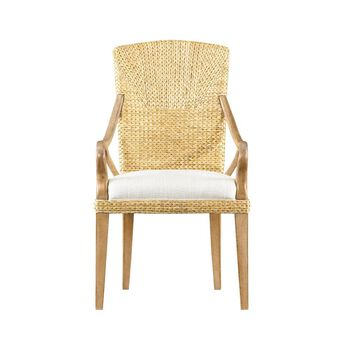 Stanley Coastal Living Resort Sail Cloth Water's Edge Woven Arm Chair