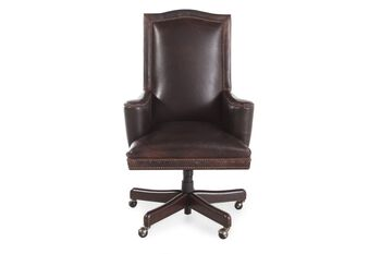 Bradington Young Woodward Chanel Leather Desk Chair