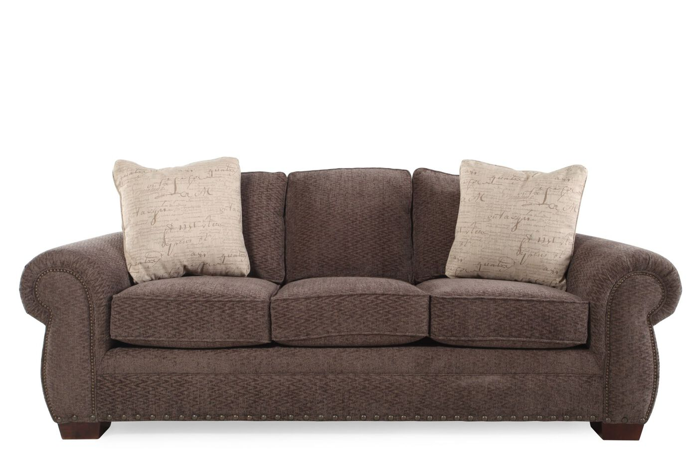 Broyhill cambridge chenille sofa mathis brothers furniture for Broyhill furniture