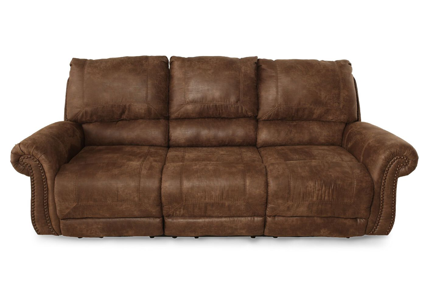 Ashley Oberson Silt Reclining Sofa Mathis Brothers Furniture
