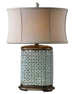Uttermost Rosignano Crackled Blue Table Lamp