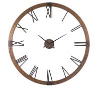 "Uttermost Amarion 60"" Copper Wall Clock"