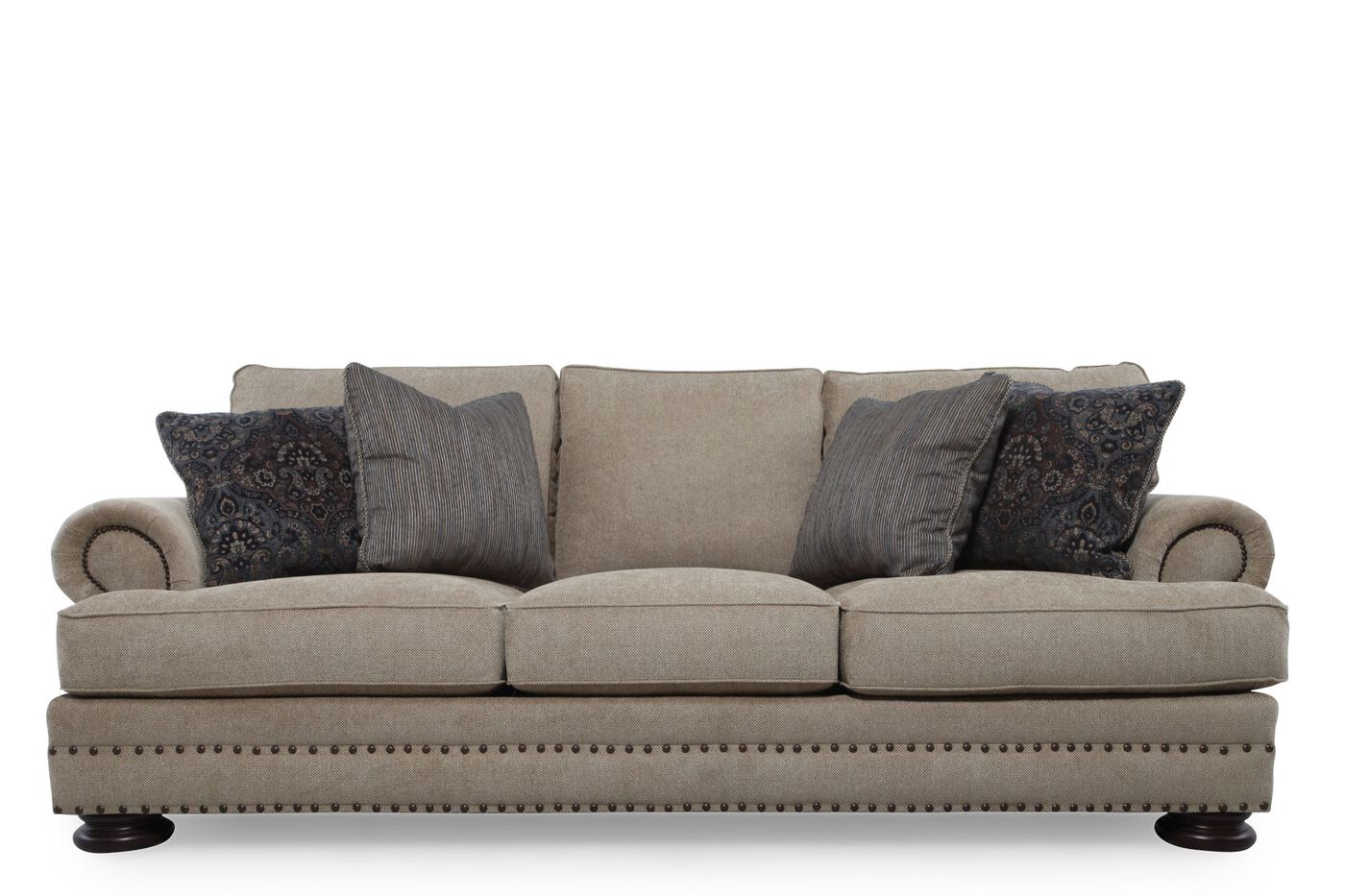 Bernhardt foster brown sofa mathis brothers furniture for Bernhardt furniture