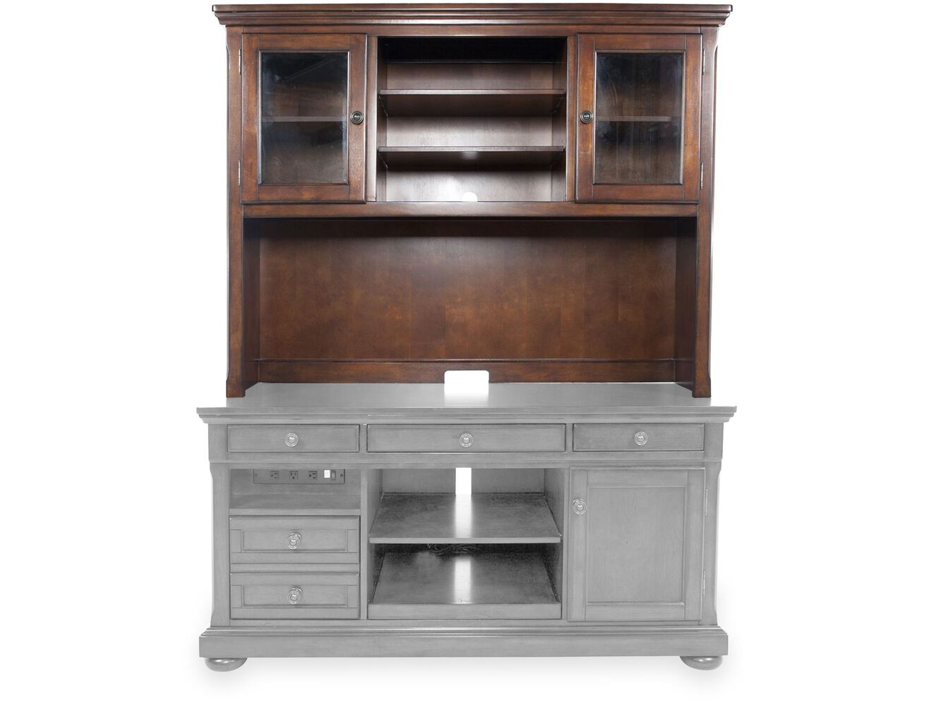 Ashley Porter Credenza Hutch Mathis Brothers Furniture
