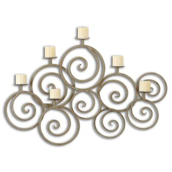 Uttermost Fabricia Metal Candle Sconce