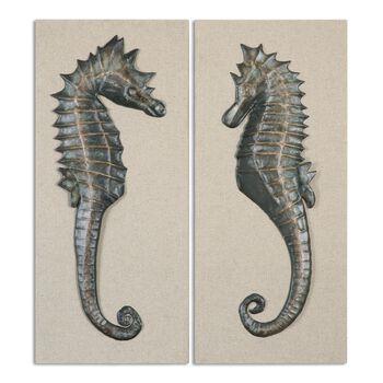 Uttermost Seahorses Wall Art S/2