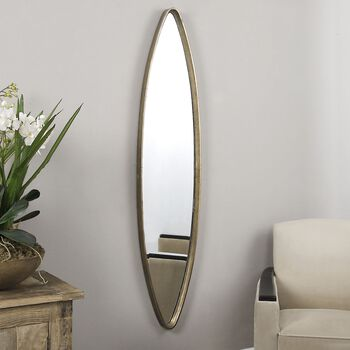 Uttermost Belsito Oxidized Gold Oval Mirror