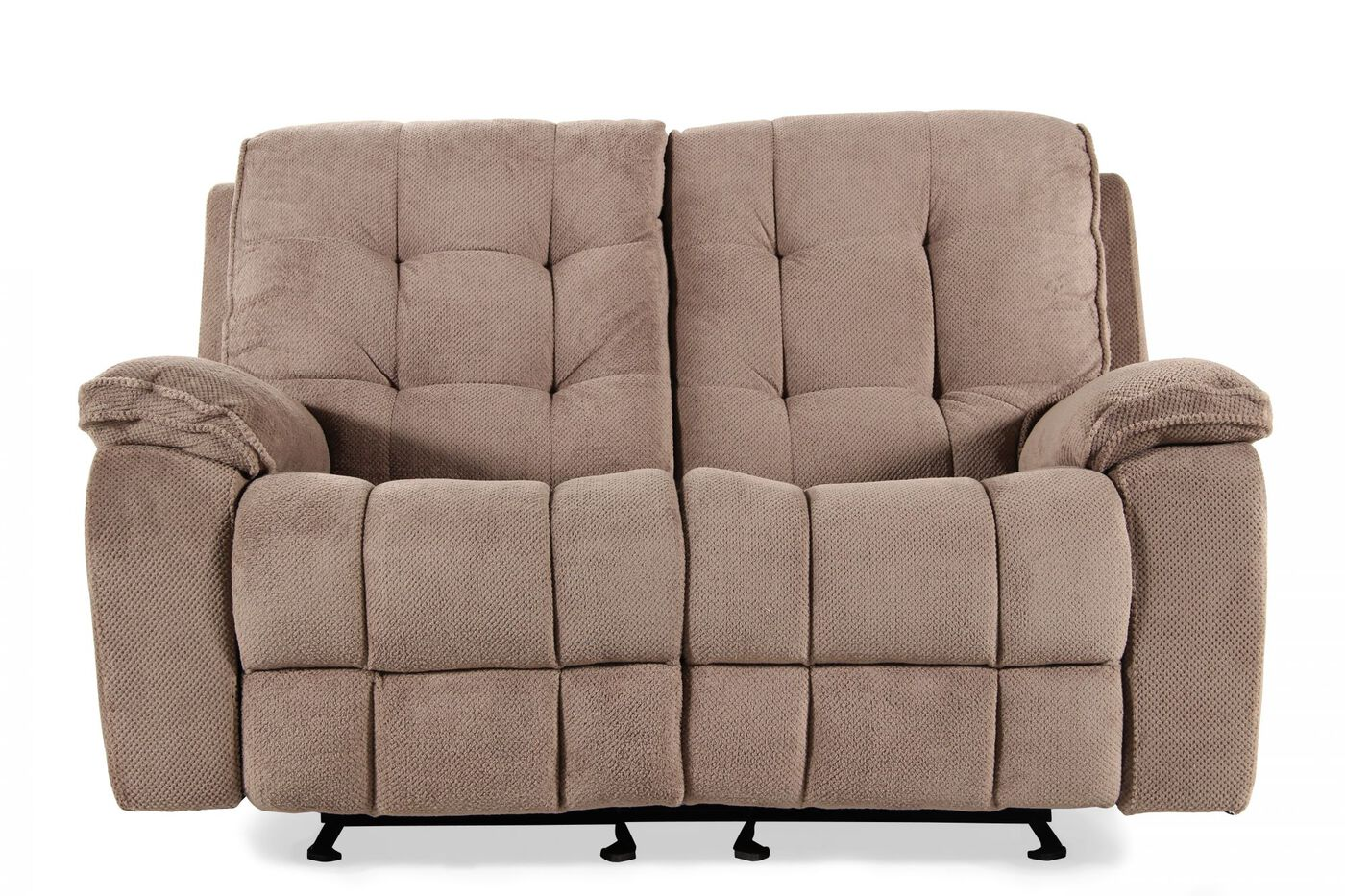 Prime Resources Conrad Dakota Grey Glider Loveseat Mathis Brothers Furniture