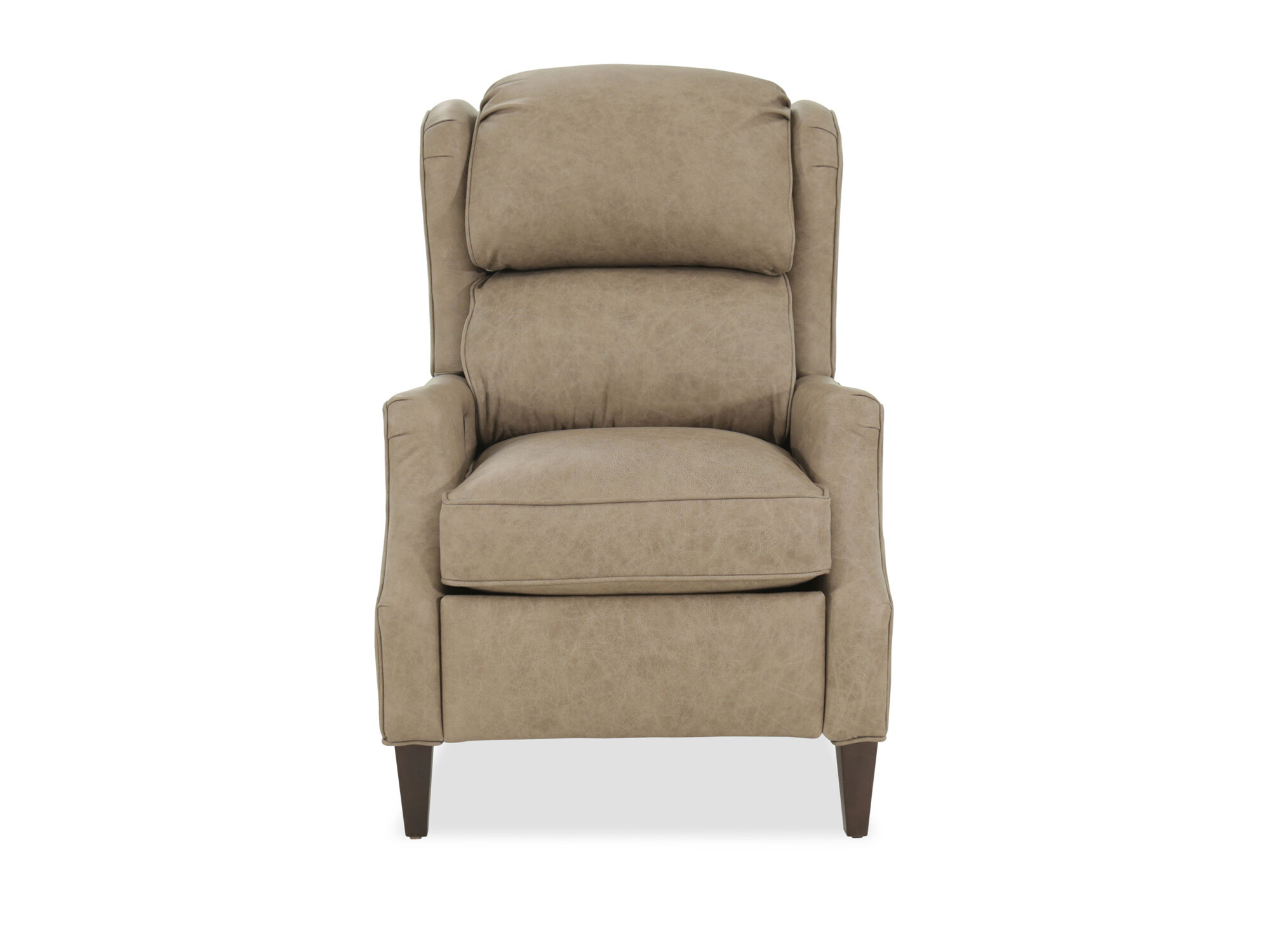 bradington young strickland brown leather pressback recliner