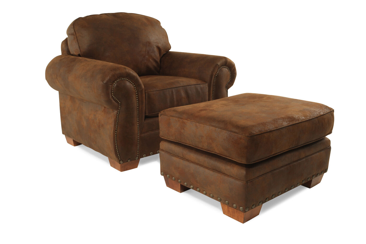 Broyhill Cambridge Chair Amp Ottoman Mathis Brothers Furniture