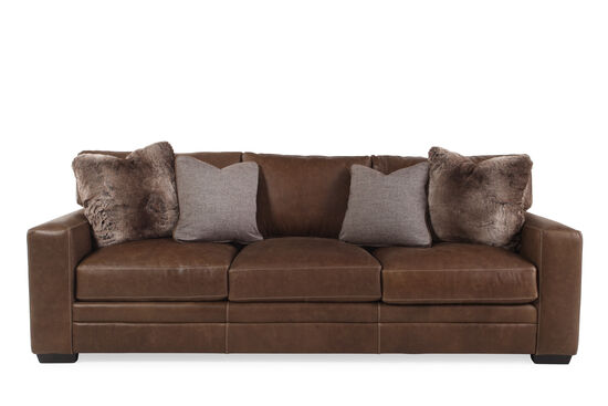 Bernhardt Tolbert Leather Sofa Mathis Brothers Furniture
