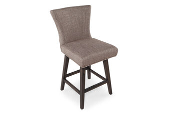 Boulevard Khakit Tweed Swivel Counterstool Mathis