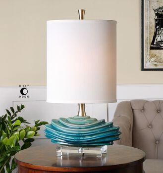 Uttermost Talucah Teal Blue Table Lamp