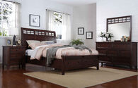 Winners Only Mango Queen Brown Storage Bed