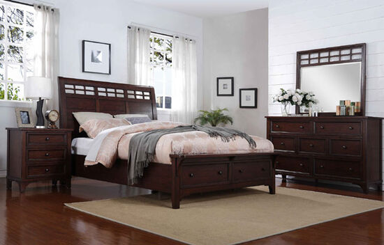 Winners Only Retreat Mango Brown Bedroom Suite Mathis Brothers Furniture