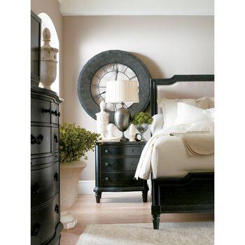 Stanley European Cottage Chalkboard California King Upholstered Bed