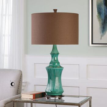 Uttermost Timavo Teal Ceramic Lamp