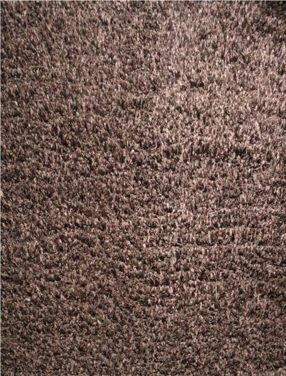 LBJ Hand Tufted Wool/Polyester Chocolate Solid Rug