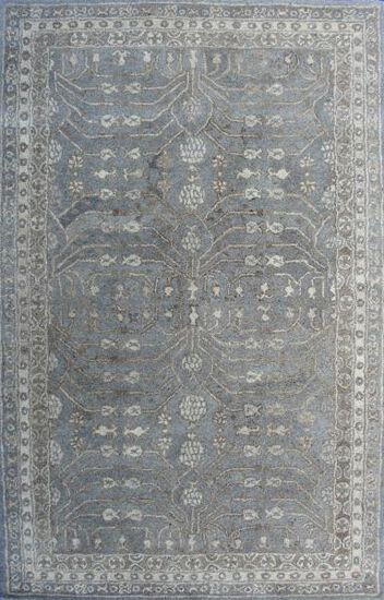 LBJ Hand Tufted Wool Natural Floral Rug