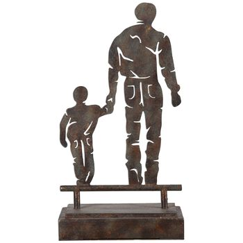 Uttermost Father Son Walk Metal Sculpture