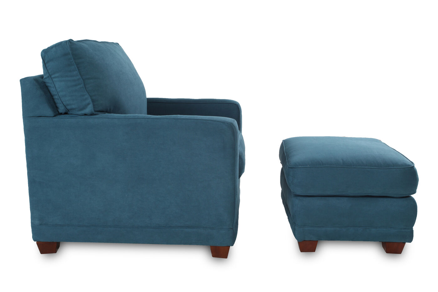 La-Z-Boy Kennedy Teal Chair And Ottoman   Mathis Brothers Furniture