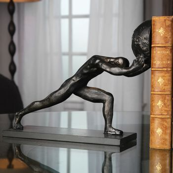 Uttermost Weight Of The World Figurine Bookends