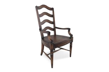 Hooker Willow Bend Pair of Ladderback Arm Chairs