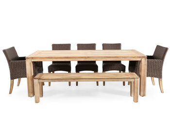World Source Vineyard Haven Teak Dining Table
