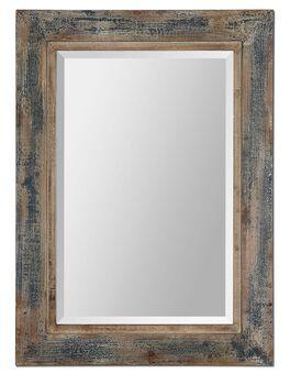 Uttermost Bozeman Distressed Blue Mirror