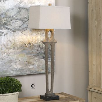 Uttermost Daugava Rust Brown Floor Lamp