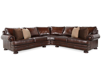 Bernhardt Foster Two-Piece Sectional with Ottoman