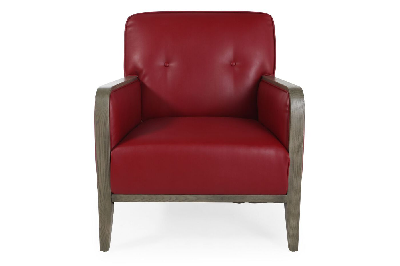 Boulevard Red Leather Accent Chair Mathis Brothers Furniture