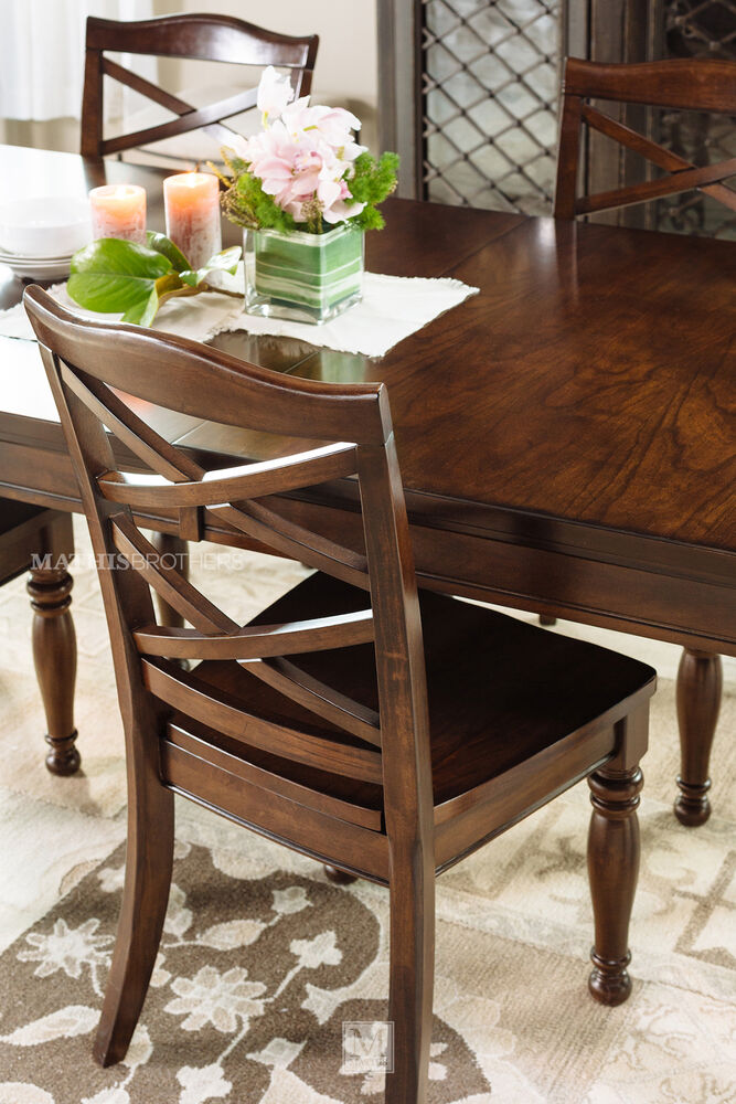ashley porter seven piece dining set mathis brothers
