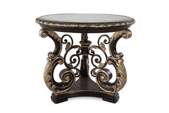 Caracole Mezzanotte Grandeur Round Lamp Table