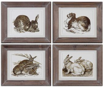 Uttermost Regal Rabbits Framed Art