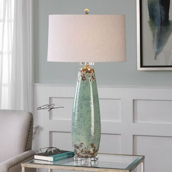Uttermost Rovasenda Mint Green Table Lamp