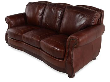 Usa leather brandy sofa mathis brothers furniture for Sofa bed 91762